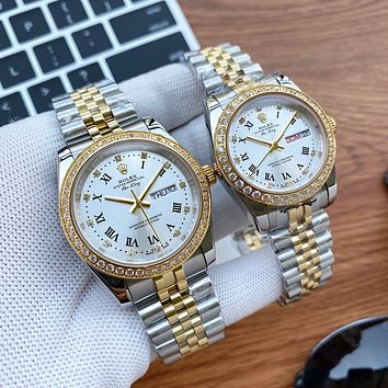 ROLEX Fashion Quartz Classic mechanical watch diamond men and women waterproof quartz watchROLEX Fashion Quartz Classic mechanical watch diamond men and women waterproof quartz watch