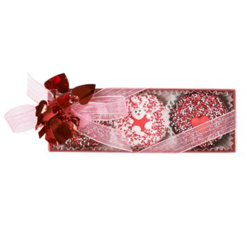 Dylan's Candy Bar Valentine's Day 3 Piece Chocolate Covered Oreo Box   Dylan's Candy Bar