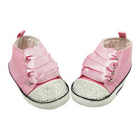 Dress Up Dreams Boutique Pink & White Sparkle Baby Bow Crib Shoe   zulily