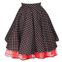 Cheeky Red Polka Dot Skirt with red Lace