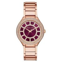 Michael Kors Women's Kerry Rose Gold-Tone Stainless Steel Bracelet Watch MK3434