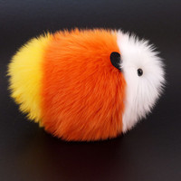 Stuffed Guinea Pig Stuffed Animal Cute Plush Halloween Toy Kawaii Plushie Candy Corn Guinea Pig Fuzzy Toy Large 6x10 Inches
