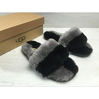 Tagre UGG Wool Fur Slipper Shoes