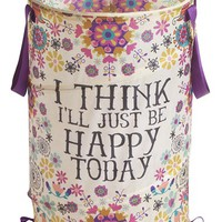 Natural Life 'Happy Today' Collapsible Laundry Hamper - Pink