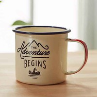 Adventure Begins Enamelware Mug
