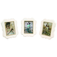 YOUNG MERMAIDS FRAMED PRINTS 3 ASSORTED