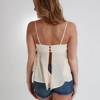 Cropped Open Back Tank Top