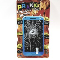 Prankz Fake Cell Phone Cracked Screen Prank Novelty Broken Joke