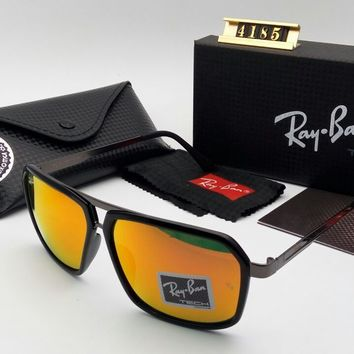 RAY-BAN FASHION SUNGLASSES EXCELLENT GOOD CONDITION FOR MEN WOMEN ORANGE LENS