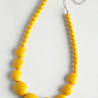 Statement Bright and Baubly Necklace in Mustard by ModCloth