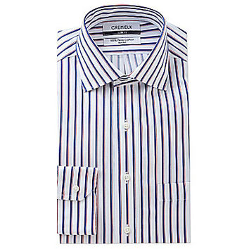 Cremieux Slim-Fit Spread-Collar Dress Shirt - White/Royal Blue/Red
