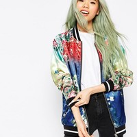 ASOS | ASOS Bomber Jacket with Ombre Print Detail at ASOS