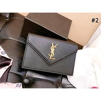 YSL 2019 new female caviar bag personality shoulder bag simple diagonal cross bag #2