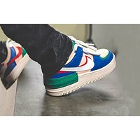 Nike Air Force 1 Shadow women's personality versatile stitching casual shoes