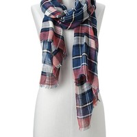 Gap Women Plaid Scarf Size One Size - navy