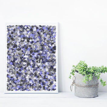 Violet and Grey Abstract Art from Math and Sacred Geomtry Mystic Rose, wall art Giclee print. Limited Edition splatter_greyViolet