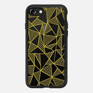 Abstract Lines Yellow Transparent iPhone 7 Case by Project M | Casetify