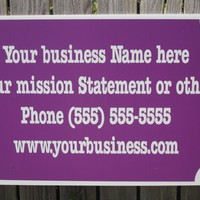 Custom Business Name Signage Advertise pick color Grommeted 4 Hanging Available!