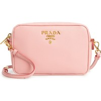 Prada Small Camera Saffiano Leather Crossbody Bag | Nordstrom
