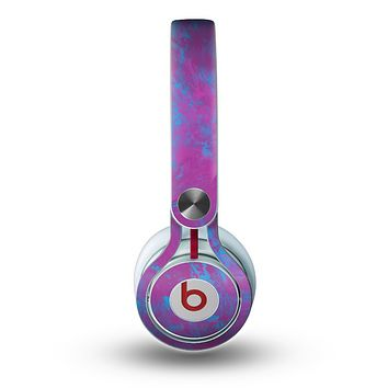 The Purple and Blue Paintburst Skin for the Beats by Dre Mixr Headphones