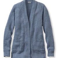 Women's Cotton Basketweave Sweater, Open Cardigan | Free Shipping at L.L.Bean