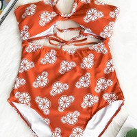 Cupshe Some Like It Hot Print One-piece Swimsuit