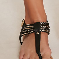 Braided Faux Leather Sandals | Forever 21 - 2000176880