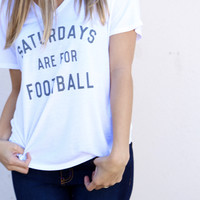 Saturdays are for Football V-Neck Tee