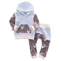 born Baby Clothes Cotton Baby set Long Sleeve Baby boy Girl Hooded Clothing suits Children Clothing