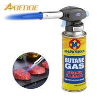 ABEDOE Flame Gun Welding Gas Torch Lighter Heating Ignition Butane Portable BBQ Camping Welding Gas Torch For BBQ Hiking Camping