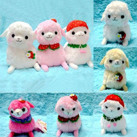 Fashion Amuse Kids Alpacasso Strawberry Ball Hat Plush Alpaca Arpakasso Doll Toy = 1645902468