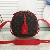 LV Louis Vuitton Women Fashion Leather Chain Crossbody Shoulder Bag Satchel
