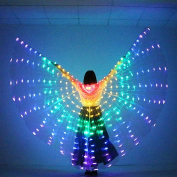Colorful LED Butterfly Wings 360 Degrees