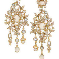 Percossi Papi | Gold-plated topaz, moonstone and pearl earrings | NET-A-PORTER.COM