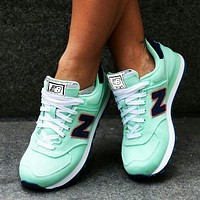 Alwayn New Balance Z-shaped shoes sports casual running shoes tide retro shoes Mint green