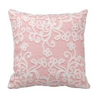 Pale pink lace,white,vintage,victorian,girly,cute, pillow