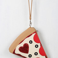 For The Love Of Pizza Wristlet