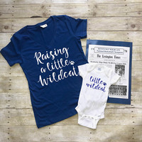 UK Baby Shower Gift | Kentucky Wildcats shirt and baby gift | Little Wildcat | UK Onesuit | Matching Kentucky Mom and Baby | Gift for UK fan