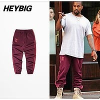 Season 4 calabasas Joggers Men Kanye West Hip Hop Pants Casual Trousers new Sweatpants season 4 cuffed pants Striped