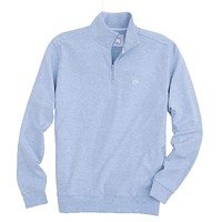 Skipjack Pique 1/4 Zip Pullover in Light Blue by Southern Tide