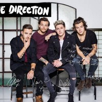 The 4 Boys 1D Colour Personalised Poster | StarGifts.com