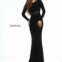 Sherri Hill Beaded Waist Prom Gown 32121