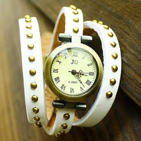 Womens River PU Leather Strap Watch + Gift Box-06