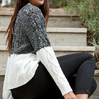 MinkPink Two-Faced Cable Knit Pullover Sweater at PacSun.com