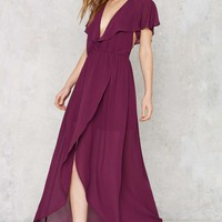Great Lengths Plunging Dress