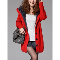 Red Knitting Womens Long Sleeved Loose Cardigan Sweater One Size MM0446r = 1920300996