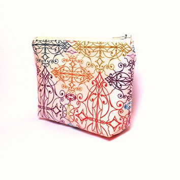 Small  Pouch Small Change Purse Small Wallet  Small Card Pouch Colorful Geometrics