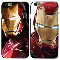 iron Man Patterns Hard Plastic Back Cover Case For iPhone 4 4S 5 5S 5c 6 6G 6S 6 Plus  6Splus