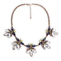 Fashion Stylish Classy Best Gift for Lovers Birthday Anniversary Valentines Christmas  Floral  Necklace Collarbone Chain _ 8583