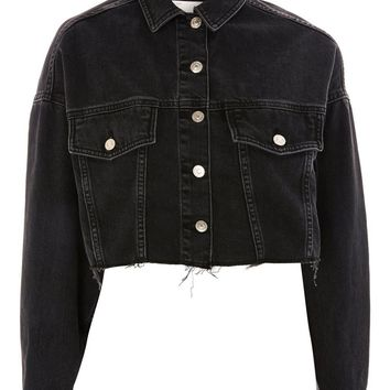 Hacked Off Cropped Denim Jacket | Topshop